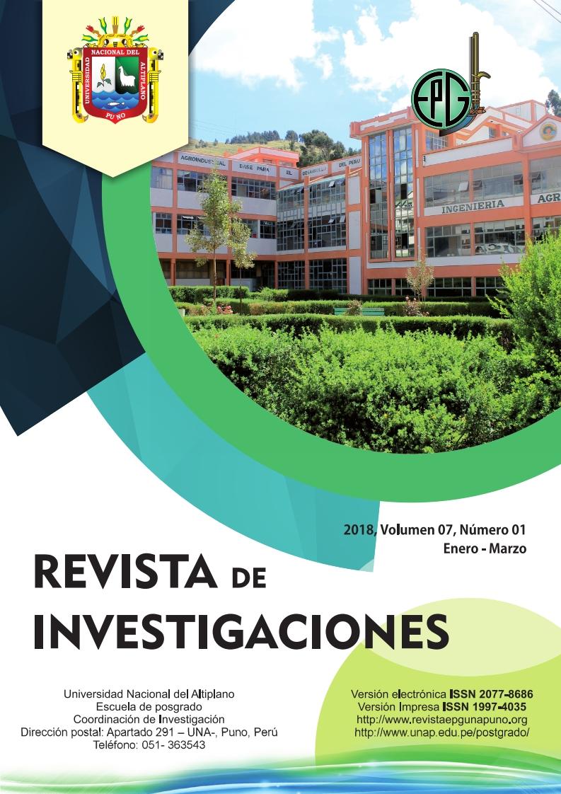 Ver Vol. 7 Núm. 1 (2018): Revista de Investigaciones