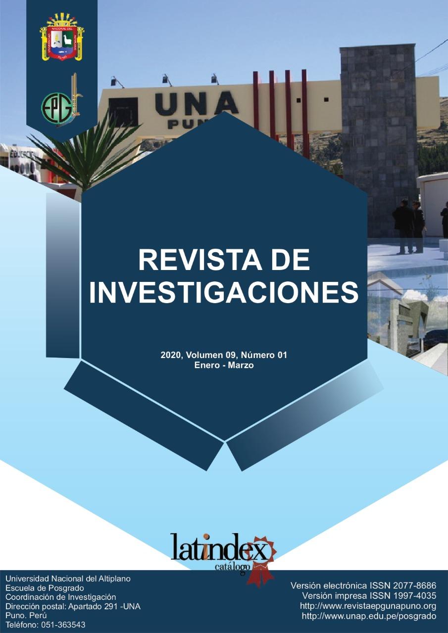 Ver Vol. 9 Núm. 1 (2020): REVISTA DE INVESTIGACIONES
