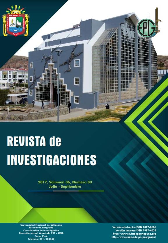Ver Vol. 6 Núm. 3 (2017): Revista de Investigaciones
